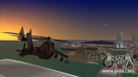 Mi-24 Krokodil para GTA Vice City left