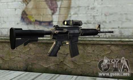 M4A1 Carbine Assault Rifle para GTA San Andreas segunda pantalla