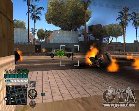 C-HUD v1 para GTA San Andreas tercera pantalla