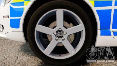 Volvo V70 South Wales Police [ELS] para GTA 4 vista hacia atrás