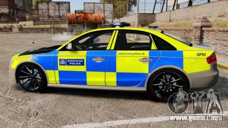Audi S4 ANPR Interceptor [ELS] para GTA 4 left