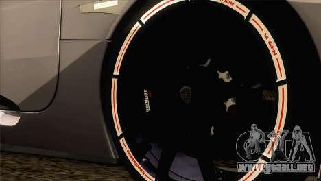 Koenigsegg CCX 2006 Autovista para GTA San Andreas vista posterior izquierda