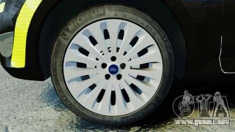 Ford Mondeo Estate Police Dog Unit [ELS] para GTA 4 vista hacia atrás