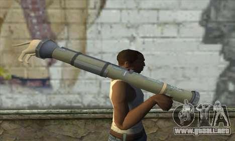 El lanzador de cohetes de Pstal 3 para GTA San Andreas tercera pantalla