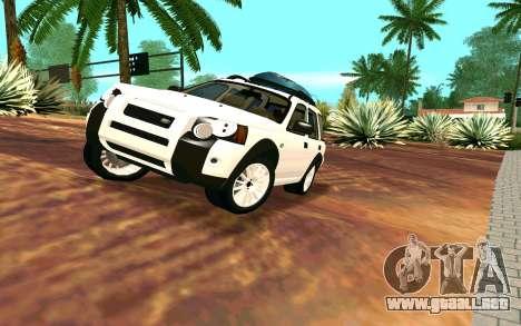 Land Rover Freelander para GTA San Andreas vista hacia atrás