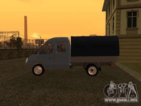 33023 Gacela para GTA San Andreas vista posterior izquierda
