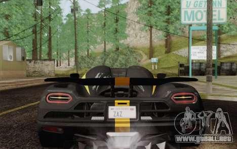 Koenigsegg Agera R para el motor de GTA San Andreas