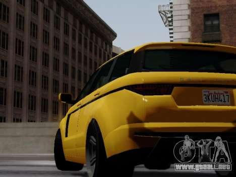 Baller 2 из GTA V para GTA San Andreas vista posterior izquierda