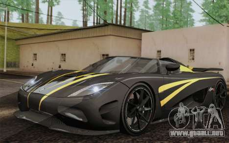 Koenigsegg Agera R para GTA San Andreas interior