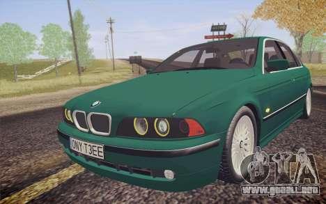 BMW M5 E39 528i Greenoxford para GTA San Andreas vista hacia atrás