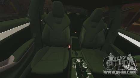 Audi S4 Unmarked Police [ELS] para GTA 4 vista superior