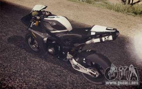 Yamaha YZF R1 2012 Black para GTA San Andreas vista posterior izquierda