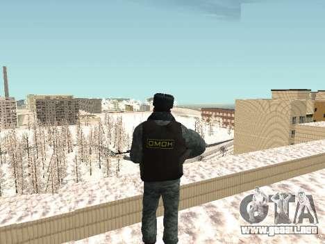 El OMON policías antidisturbios en el uniforme d para GTA San Andreas tercera pantalla