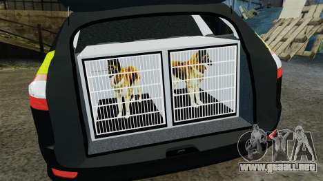 Ford Mondeo Estate Police Dog Unit [ELS] para GTA 4 vista lateral