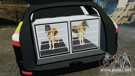 Ford Mondeo Estate Police Dog Unit [ELS] para GTA 4 vista lateral