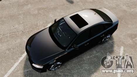 Audi S4 Unmarked Police [ELS] para GTA 4 visión correcta