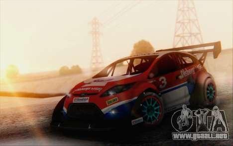 Ford Fiesta Omse HillClimb para GTA San Andreas vista hacia atrás