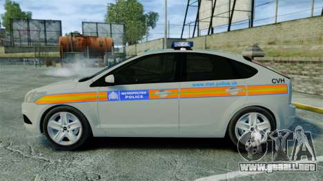 Ford Focus Metropolitan Police [ELS] para GTA 4 left
