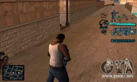C-HUD Aztecas Gang para GTA San Andreas segunda pantalla