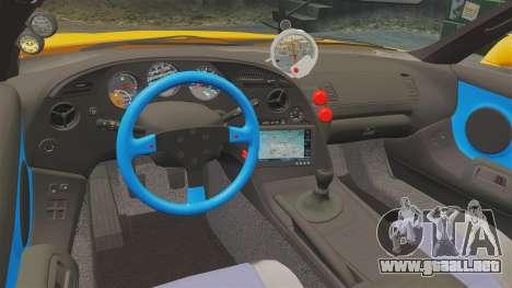 Toyota Supra RZ 1998 (Mark IV) Bomex kit para GTA 4 vista interior