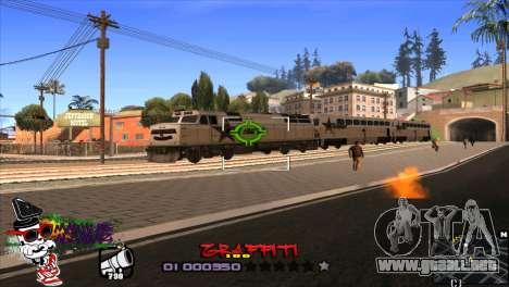 C-HUD Markus para GTA San Andreas tercera pantalla