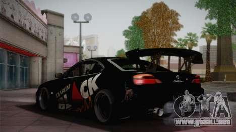 Nissan S15 Street Edition Djarum Black para GTA San Andreas vista hacia atrás