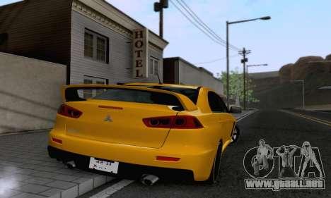Mitsubishi Lancer X Evolution para la visión correcta GTA San Andreas