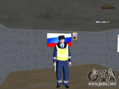 Pak DPS en un formato de invierno para GTA San Andreas segunda pantalla