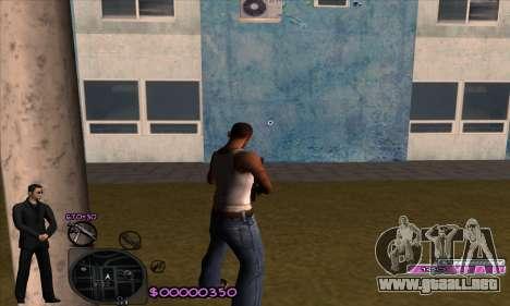C-HUD Woozie para GTA San Andreas segunda pantalla