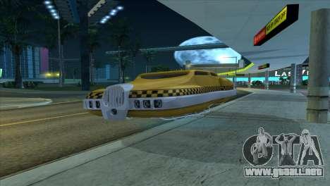 Taxi 5 Element para GTA San Andreas vista posterior izquierda