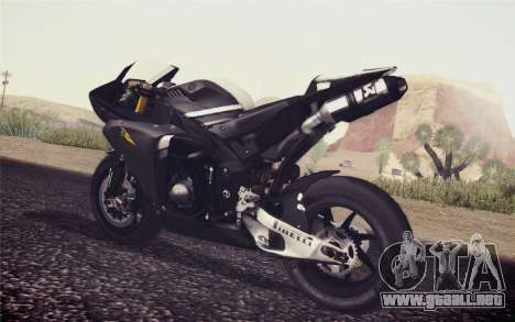 Yamaha YZF R1 2012 Black para GTA San Andreas left