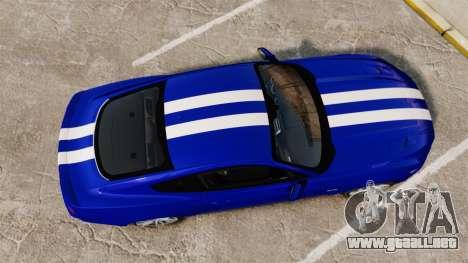 Ford Mustang GT 2015 Stock para GTA 4 visión correcta