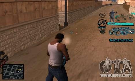 C-HUD Aztecas Gang para GTA San Andreas sucesivamente de pantalla