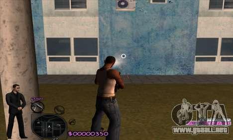 C-HUD Woozie para GTA San Andreas sucesivamente de pantalla