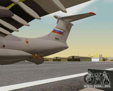 Il-76md-90 (IL-476) para la vista superior GTA San Andreas
