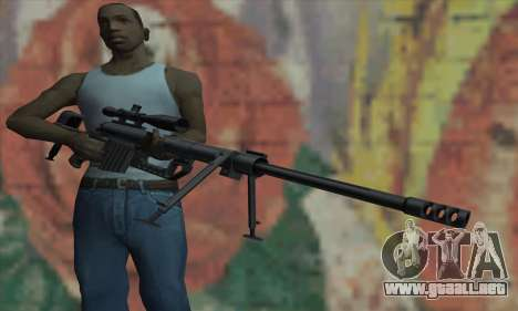 Black M200 Intervention para GTA San Andreas tercera pantalla