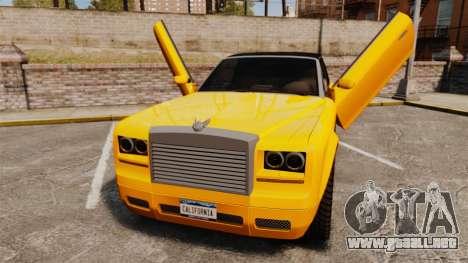 Super Drop Diamond VIP para GTA 4 vista hacia atrás