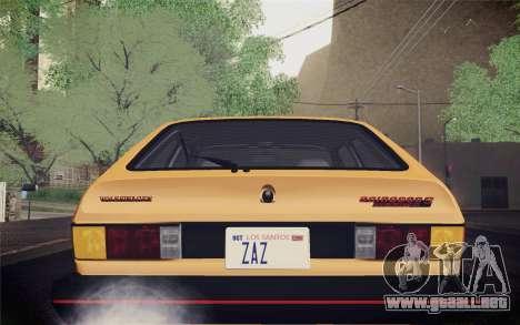 Volkswagen Scirocco S (Typ 53) 1981 IVF para la vista superior GTA San Andreas