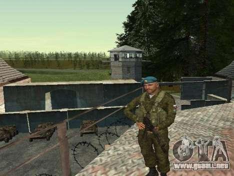 Granadero De Tropas Aerotransportadas para GTA San Andreas segunda pantalla