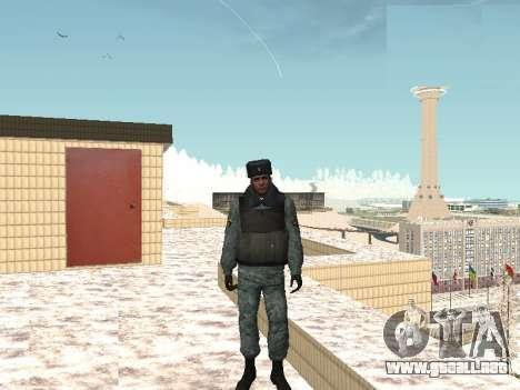 El OMON policías antidisturbios en el uniforme d para GTA San Andreas segunda pantalla