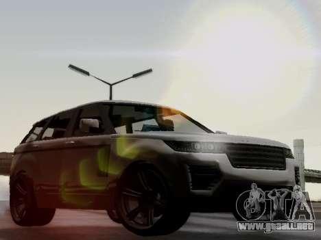 Baller 2 из GTA V para GTA San Andreas vista hacia atrás