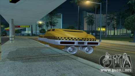 Taxi 5 Element para GTA San Andreas vista hacia atrás