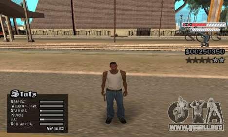C-HUD v2 para GTA San Andreas sucesivamente de pantalla