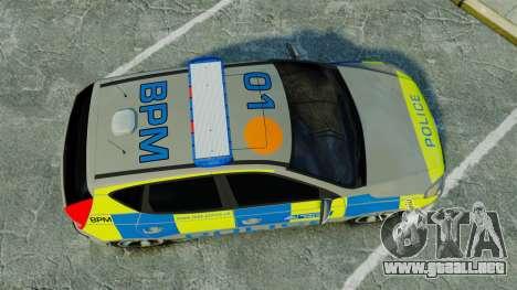 Hyundai i30 Metropolitan Police [ELS] para GTA 4 visión correcta