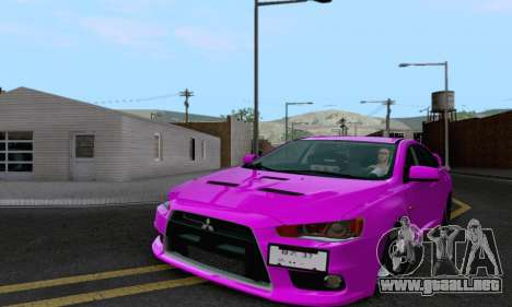 Mitsubishi Lancer X Evolution para visión interna GTA San Andreas