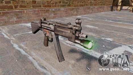 Subfusil HK MP5 con linterna para GTA 4