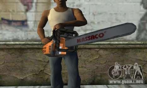 Motosierra para GTA San Andreas tercera pantalla