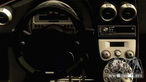 Koenigsegg CCX 2006 Autovista para la visión correcta GTA San Andreas