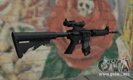 M4 RIS Acog Sight para GTA San Andreas segunda pantalla