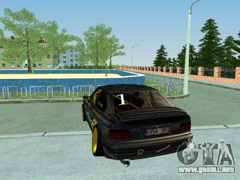 BMW M3 E36 Compact Darius Kepezinskas para la visión correcta GTA San Andreas
